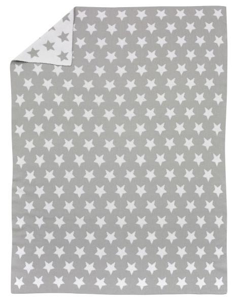 Strickdecken - Stars silber 209N30003-6089
