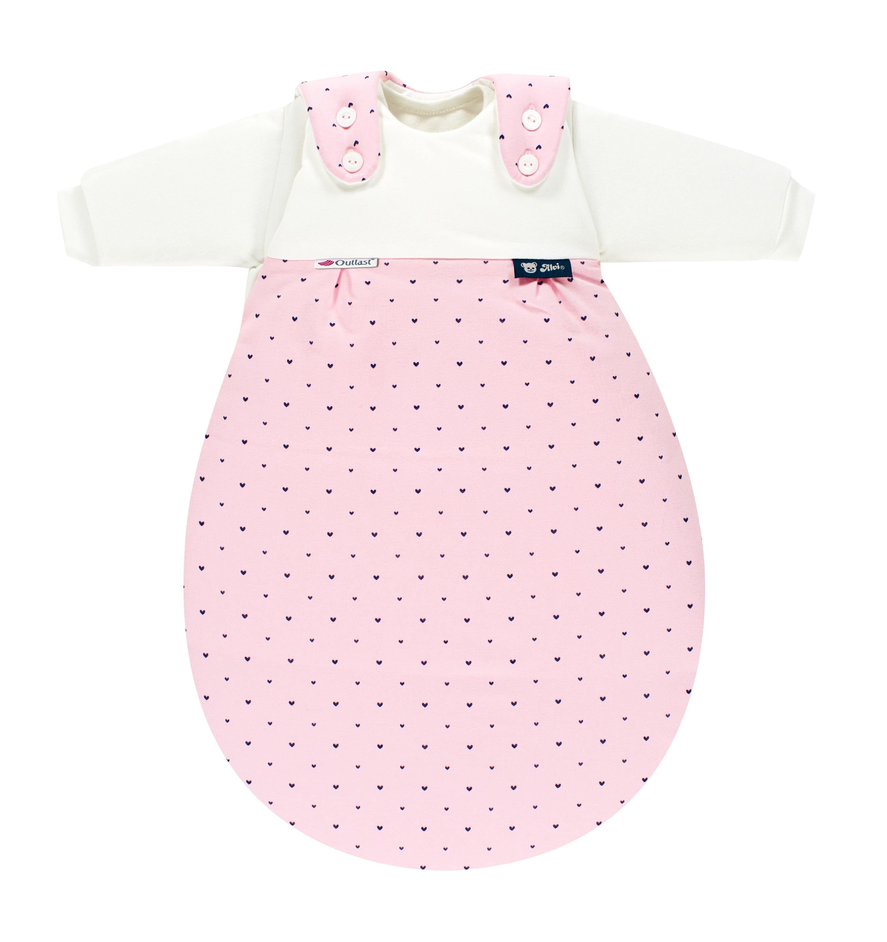 Alvi Baby-M/äxchen Au/ßensack Super-Soft Flamingo 50//56