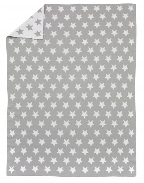 Strickdecken - Stars silber 93186608-6089-75x100cm