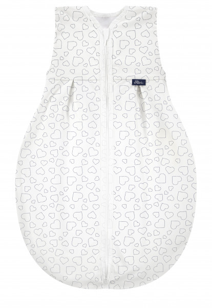Kugelschlafsack Molton Light - Hearts white 209N30528-280