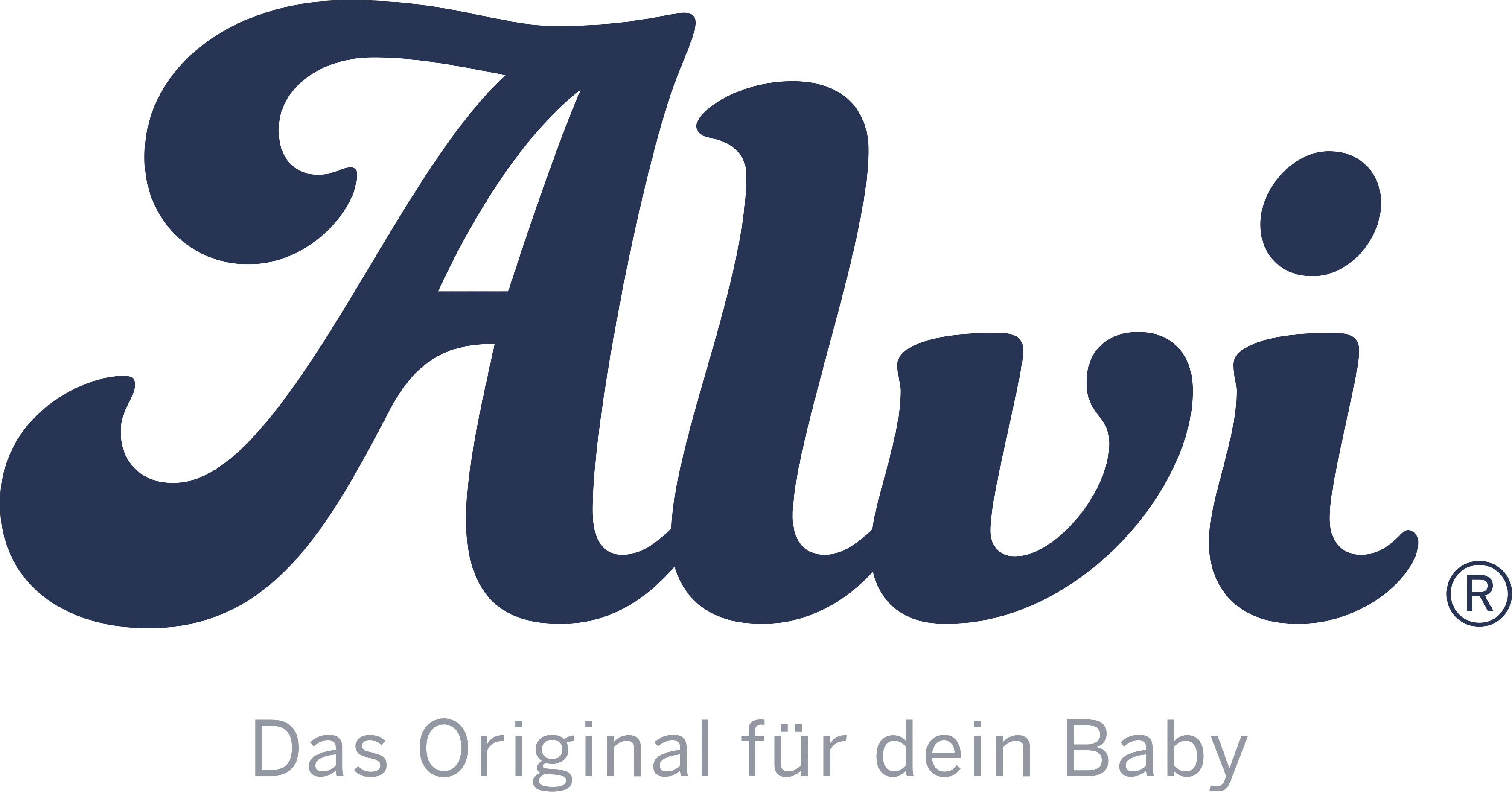 Alvi Baby Mäxchen Innensack Komfort langärmlig Baumwolle grau Exclusiv